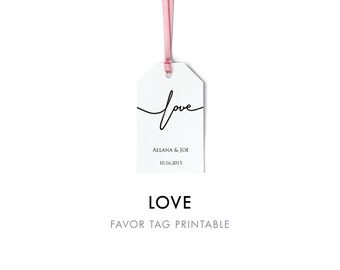 Love Favor Tag Template, Favor Tag Printable, Wedding Tag, Favor Tag, Wedding Favor, Wedding Gift Tag,Editable Template, Instant Download