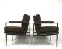 Thayer Coggin by Milo Baughman High Lounge Chairs circa 1970 modern mid century