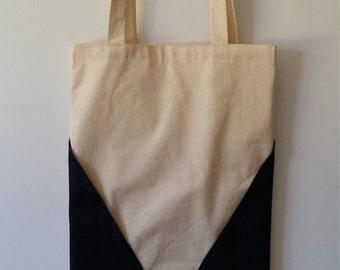 Calico and Denim Tringles tote bag