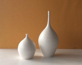 bottle with bud vases set of two home decor bottle vase minimal vase studio ceramic gift idea