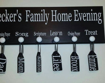 Family Home Evening (FHE) Tags only.