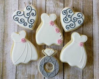 Wedding gown sugar cookies(12)