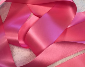 Pink Satin Ribbon/Brilliant Pink Ribbon/Pink Bridal Sash/Wedding Dress Sash/Pink Wedding Belt/Pink Ribbon/Pink Bridal Belt