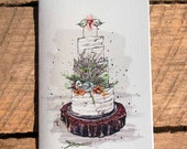 Wedding card – Rustic cake by Marie-Eve Pharand - Greeting card