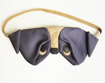 Pug sleep mask silk eyemask dog sleepmask christmas gift valentines gift
