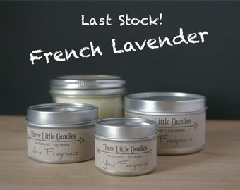 French Lavender Soy Candle - 2oz, 4oz or 8oz Tins or Mason Jar 170g
