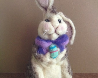Needle Felted Easter Bunny