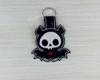 Bat Skelly Skeleton Key Ring Fob Halloween Party Favor Skellie Bones Steampunk