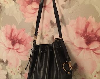 Black & Gold Bucket Bag