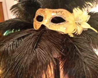 Mardi Gras / Masquerade Ostrich Feather Centerpiece