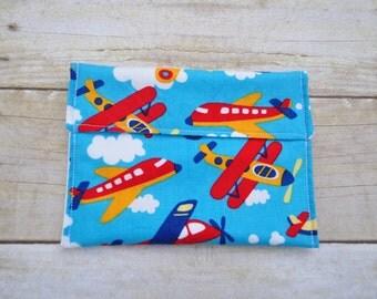 Reusable Snack Bag- Airplane Snack Bag- Eco Friendly