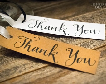 """Calligraphy Thank You Tags 