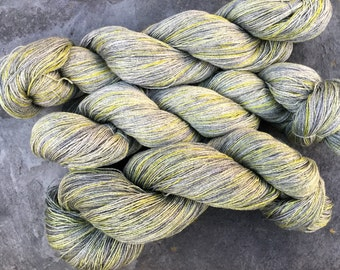 70-40% Silk and Cashmere hand dyed yarn, lace weight, 50g 636 metres