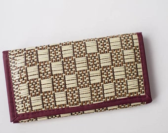 Natural reed wallet, handmade, oriental style