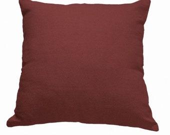 Plain Linen Cushion- Terracotta Cushion- Plain Cushion- Red Pillow- Plain Pillow- Red Throw Pillow- Linen Cushion- Red Linen - Cushion Cover