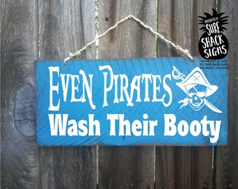 Elegant Pirate, Pirate Sign, Pirate Decor, Bathroom Decor, Bathroom Decoration, Pirate  Bathroom