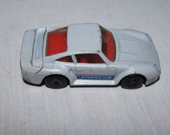 Vintage 1986  -MATCHBOX PORSCHE 959- 1986- Grey