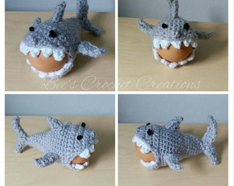 Crochet Shark Egg Cozy Egg Cosie