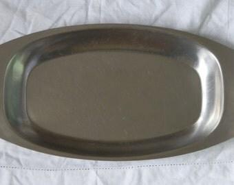 Vintage 1960's Viners Housewares International Stainless Steel Serving Dish