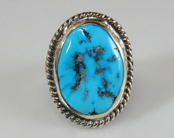 turquoise mens ring southwestern silver mens ring kingman turquoise mens ring size 12