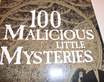 """Vintage Book- """"100 Malicious Little Mysteries"""""""