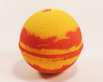 Yellow and Orange Bath Bomb, candy corn, bath fizzy, bath bomb, aromatherapy bath bomb, bath bombs, natural bath bomb, spa gift, all natural