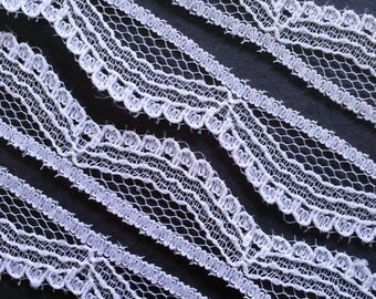 Vintage Victorian swag white lace trim- by the yard