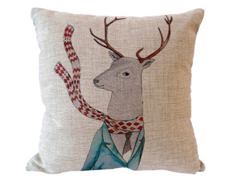 Hipster Deer cushion cover, pillow cover