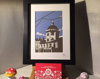 SALE Framed Layered Papercut of the iconic Dome Cinema in Worthing