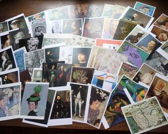 63 Unused Vintage Art Museum Postcards  Old Masters