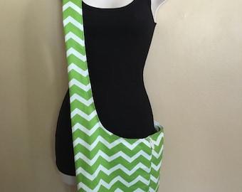 New**Green Chevron Cross body/Hobo Bag