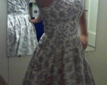 1950's style cotton print dress