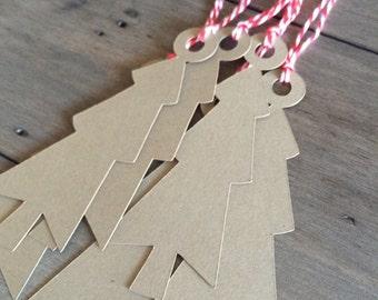 Christmas Gift Tags* Holiday Tags* Favor Tags*Kraft Paper Tags* Christmas Tree Tags* Cookie Tags* Gift Tags