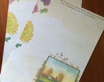 Octobers- Autumn themed writing paper stationery