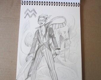 Loose Sketches- Sketchbook Orginal Art