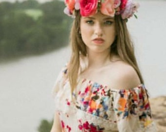 Flower Crown, Flower Crown Halo, Photoshoot Flower Crown