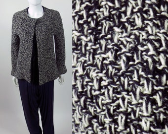 60s Mad Men chunky knit fully fashioned bias boucle jacket