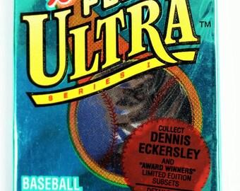 Vintage 1993 Fleer Ultra Baseball Trading Cards MLB Wax Pack 93