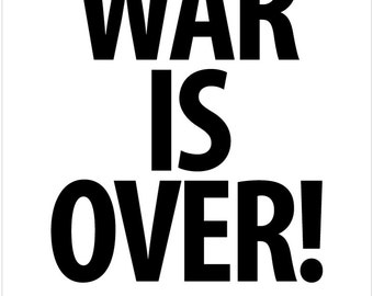 War is over poster - War is Over! If you want it. Poster Print Art Canvas. White. V2.