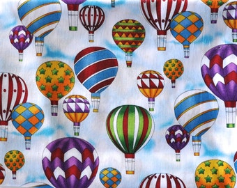 CUSTOM MEN'S BOXERS, Made to Order, Colorful Hot Air Balloons in the Sky with Clouds, Choose Size