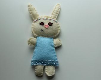 Ivory Bunny Plushie