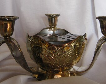 Vintage Silver Plated 3 arm Candlelabra/Centerpiece