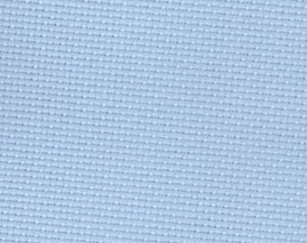 Zweigart Sky Blue 14 count Aida Cross Stitch Fabric - piece approx 50 x 55cm
