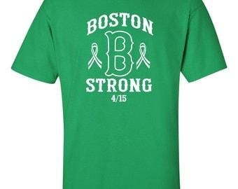 Boston B Strong Marathon Men's Tee Shirt 424W