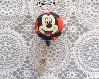 Mickey Mouse red Badge Reel Holders