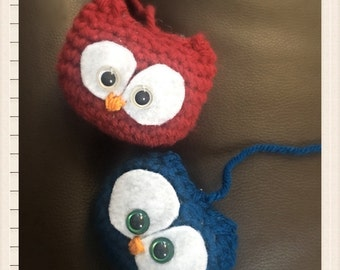 Baby owl, ornament, keychain, owls