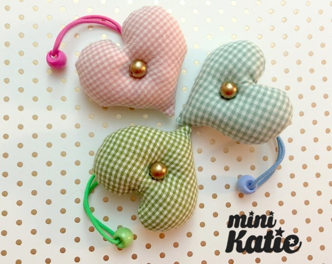 mini Katie Lovely Heart Hair Bands, Pony tail holders, Hair tie for baby girls Toddlers Infants and girls