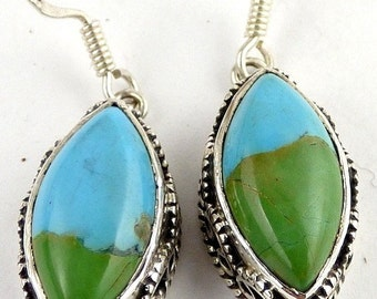 JEWELRY IN TURQUOISE mohave, turquoise earrings, earrings turquoise, turquoise jewelry, natural stone jewelry, da97.1