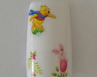 Nail Art Transfer Disney Decal #471 BLE1692 Winnie The Pooh Piglet Sticker Wrap