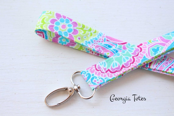 how to make a fabric lanyard
